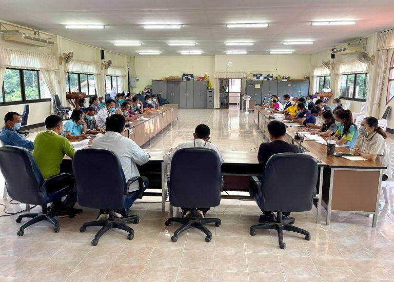 การประชุมคณะกรรมการศูนย์ปฎิบัติการควบคมโรคติดต่อไวรัสโคโรนา 2019 (ศปก.ต.) ห้วยลาน